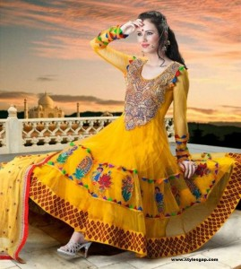 Beautiful-Yellow-Frock-latest-Designe