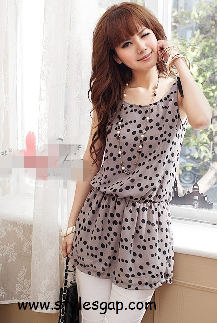 9368cb086323 Cool Elegant Tops For Girls in Dotted Order