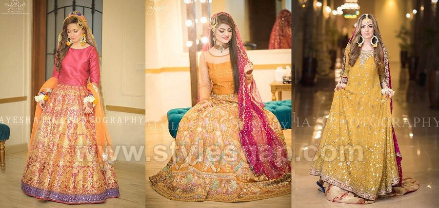 Latest Bridal Mehndi Dresses Wedding Collection 2019-2020