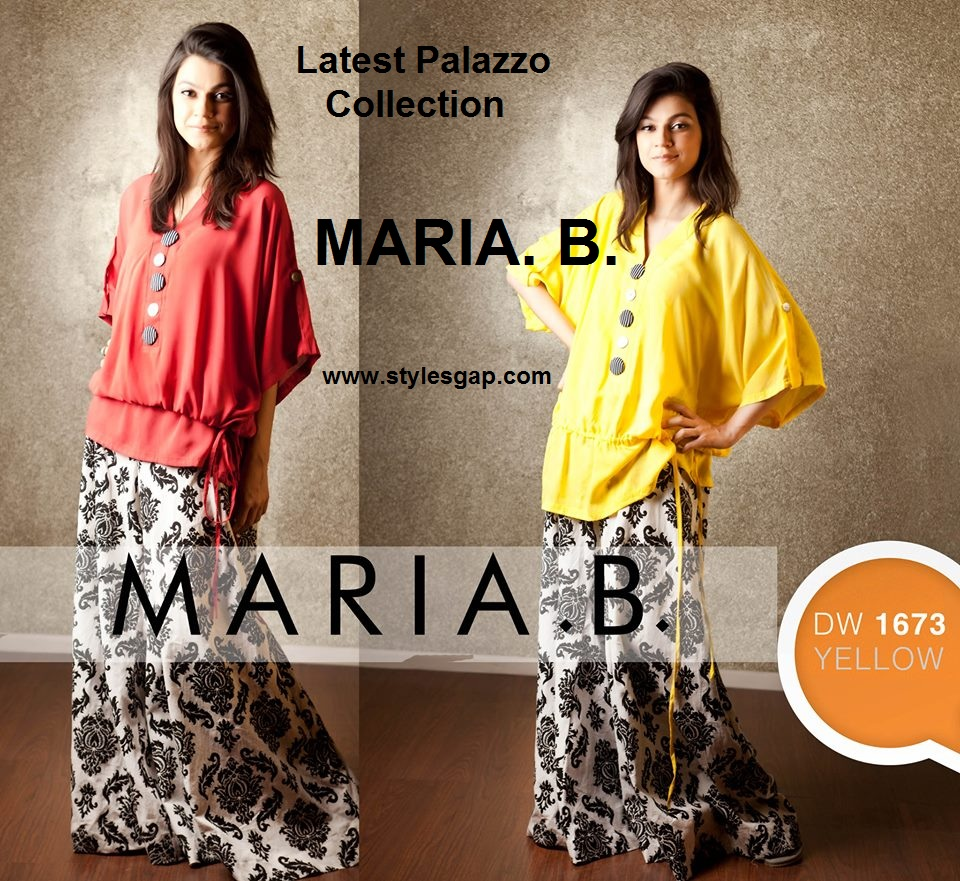 Latest Maria B Palazzo Collection for Girls