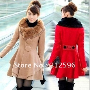 d95397f8209 Long Coats For girls- Red and Brown color. Top Winter Coats For Ladies-Stylesgap  ...