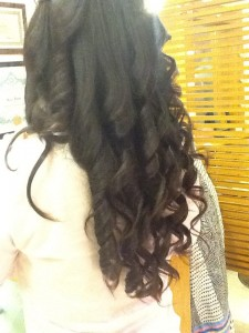 WOWW TONGGSS and manic CURLS BLOW DRY!