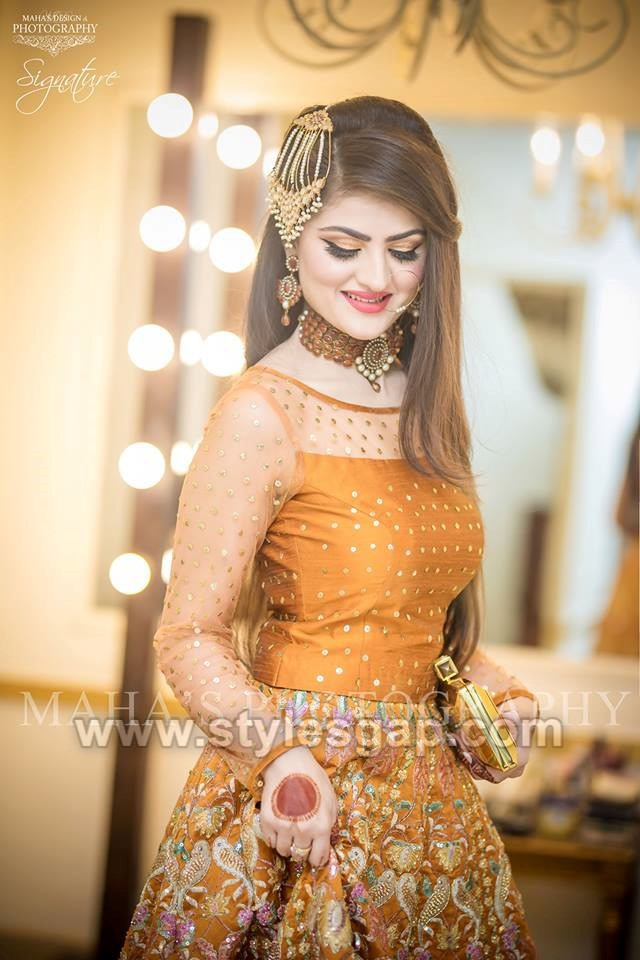 Latest Bridal Mehndi Dresses Wedding Collection 2018 2019