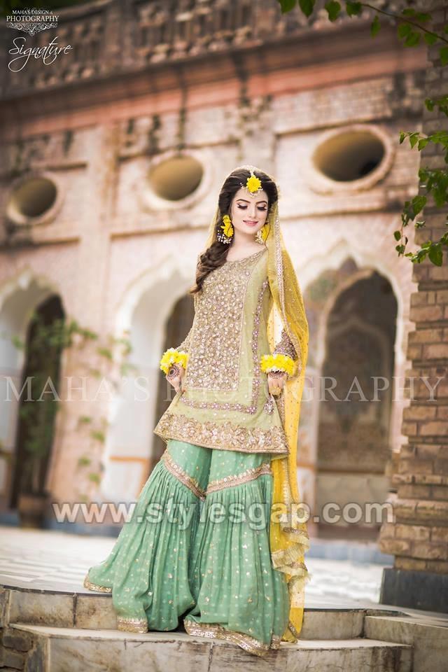 Latest Bridal Mehndi Dresses Wedding Collection 2019,2020