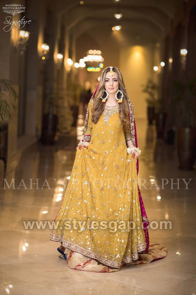 Latest Bridal Mehndi Dresses Wedding Collection 2019,2020