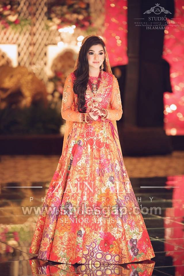 nomi ansari multi colored mehndi dress (1) , StylesGap.com