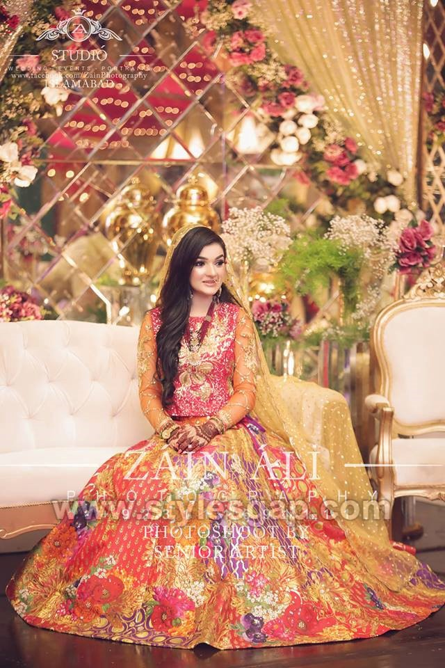 nomi ansari multi colored mehndi dress (2) , StylesGap.com