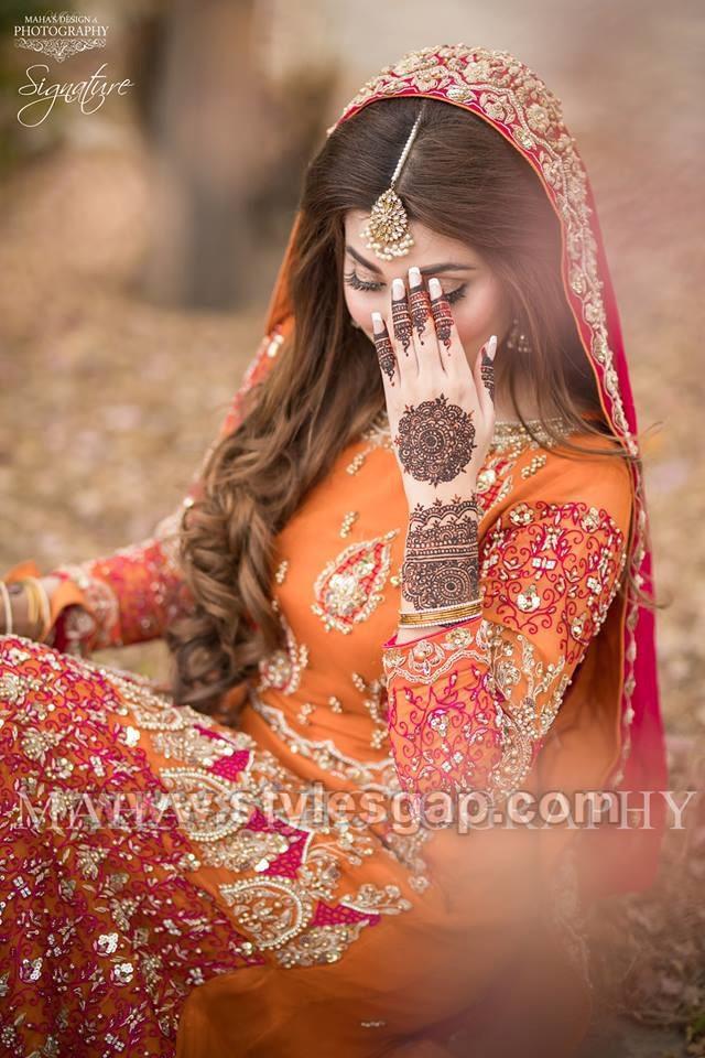 Latest Bridal Mehndi Dresses Wedding Collection 2019-2020