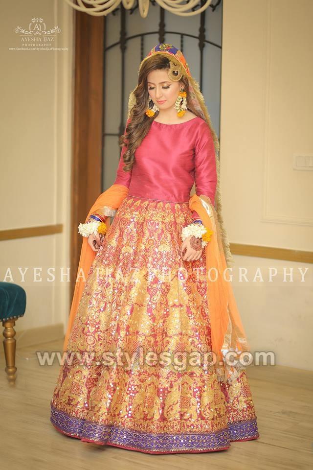 Latest Bridal Mehndi Dresses Wedding Collection 2020,2021