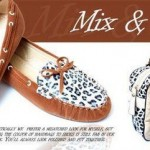 Leather Leaopard Style Ballerinas | Latest Winter Shoes By Metro