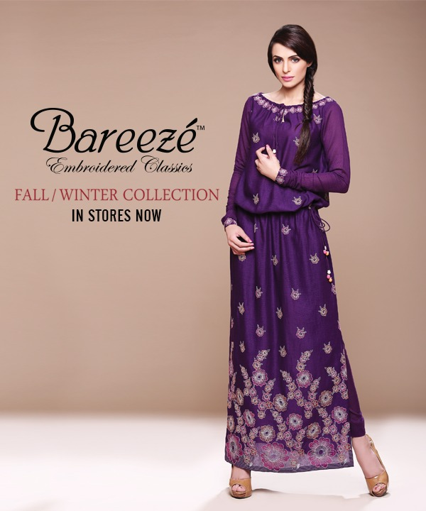 Latest Winter Fall Collection For Women By Bareeze