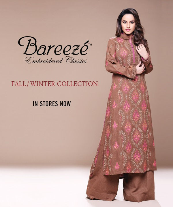 014c2b0e15d3 Latest Winter Fall Collection For Women By Bareeze