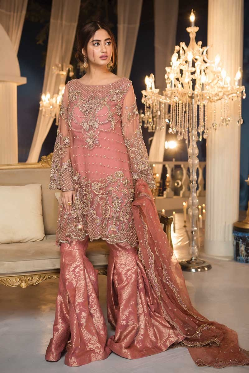 dd2f460fcc These Maria B Couture Latest Fancy Formal Wedding Dresses are now available  to order. So be the first to wear the awesome dress by Pakistan's no one ...