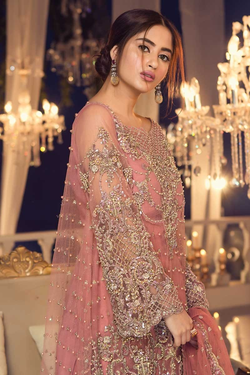 5ea07d3565 See More As: Latest Bridal Walima Dresses Designs; Party Wear Embroidered  Shirts Styles; Engagement Bridal Makeup & Styling Tips; Maria B ...