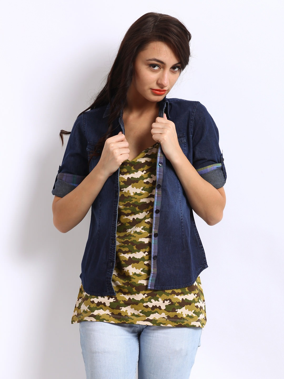 Alibi-Women-Blue-Denim-Shirt_ Ladies Tops and Shirts By Best Brands