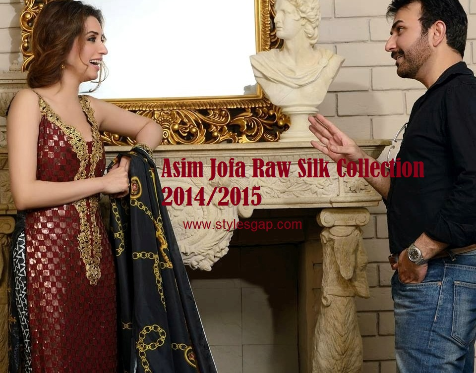 Asim Jofa Raw Silk Dresses 2014