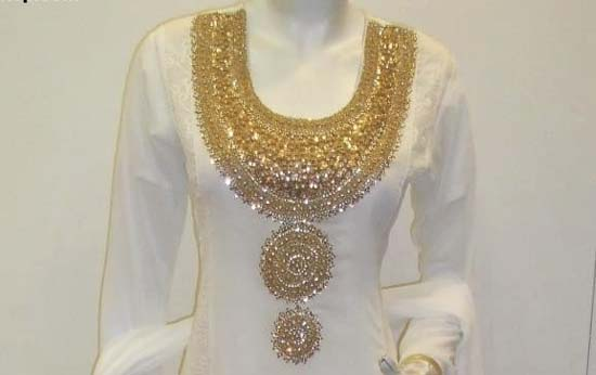 Girls Frocks crystal Embroidered Neckline (gala) Designs 2014-2015-StylesGap.com- (1)