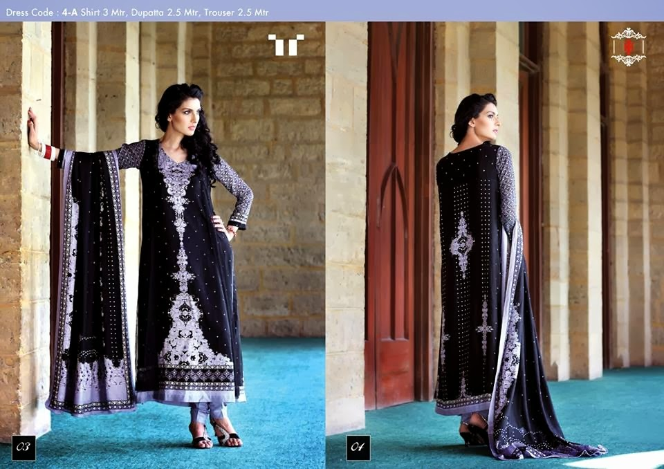 Ittehad Swiss Linen Collection 2014-15 (2)