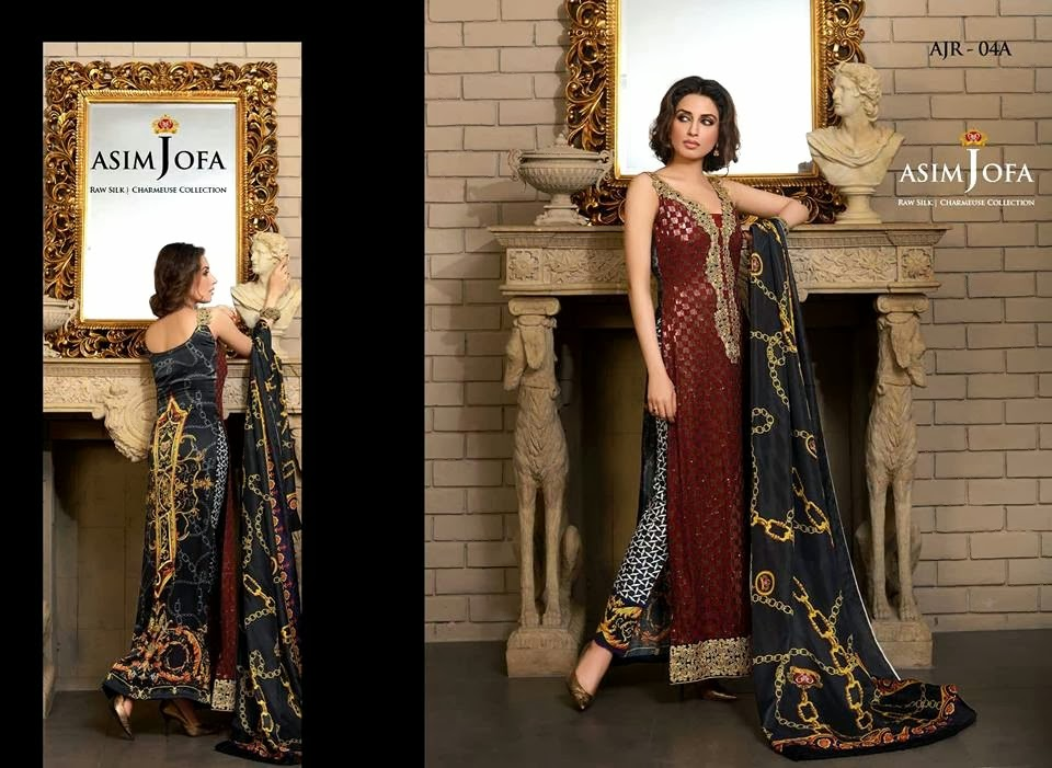 Latest Asim Jofa Raw Silk Charmeuse Collection 20142015 For Women (10)