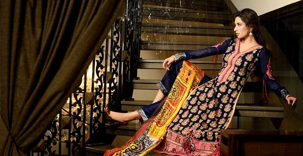 Latest Asim Jofa Raw Silk Charmeuse Collection 20142015 For Women (2)