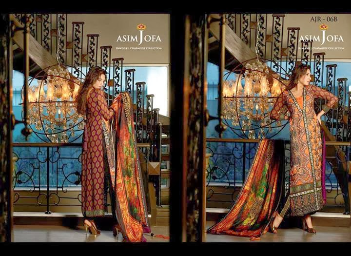 Latest Asim Jofa Raw Silk Charmeuse Collection 20142015 For Women (7)