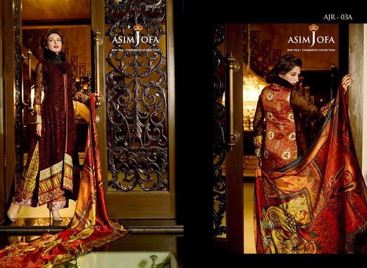 Latest Asim Jofa Raw Silk Charmeuse Collection 20142015 For Women (8)