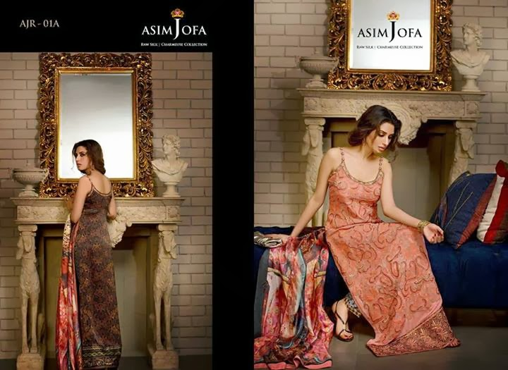 Latest Asim Jofa Raw Silk Charmeuse Collection 20142015 For Women (9)