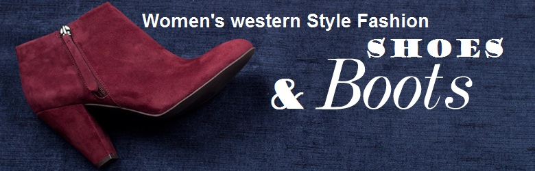Latest women western style shoes nad boots
