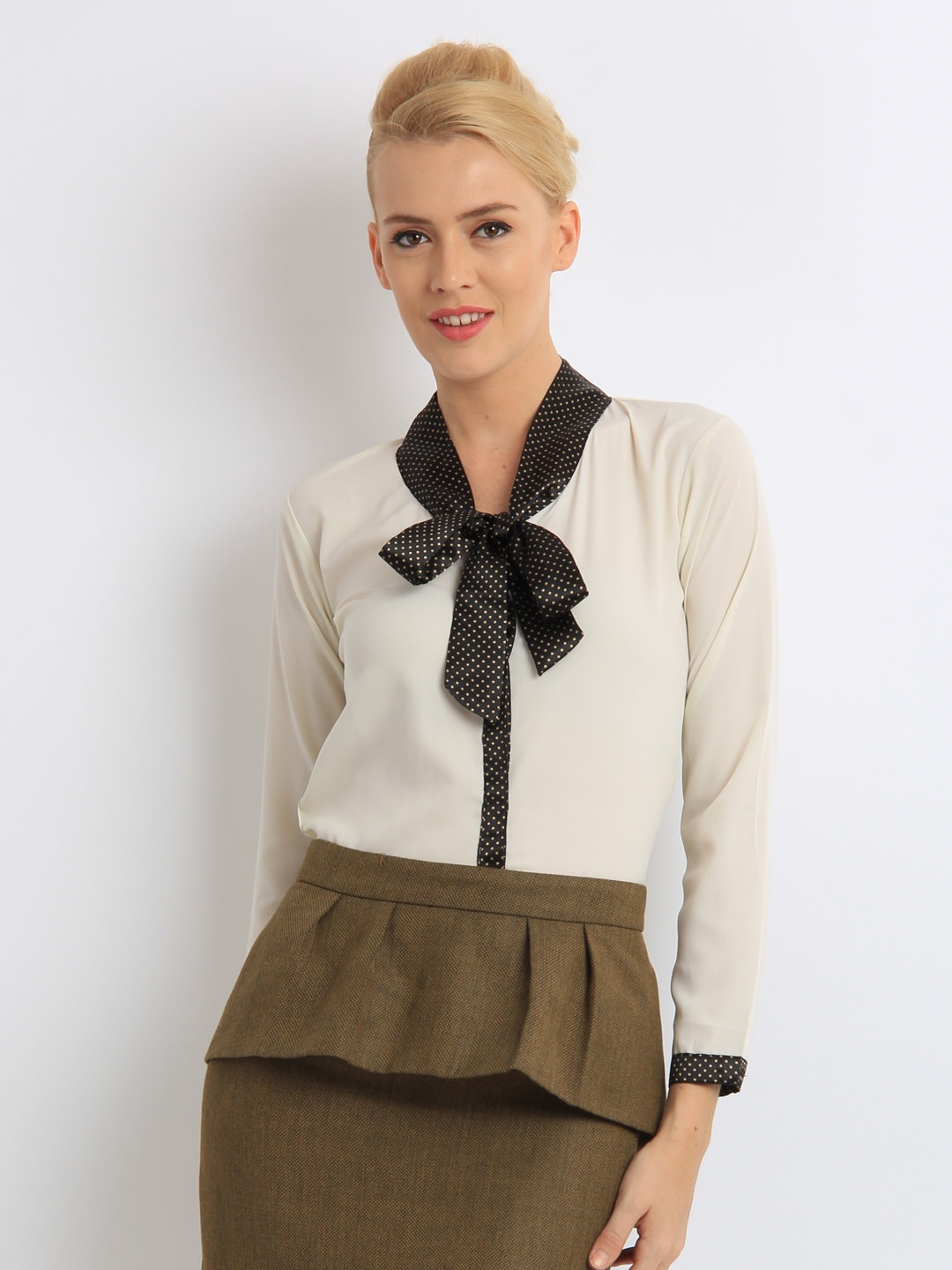 Mast-&-Harbour-Women-Off-White- Ladies Tops and Shirts By Best Brands