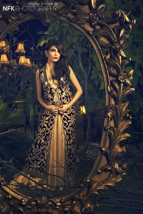 PERSHE By Kauser Humayun Party Wear Dresses for Women 2014-2015-StylesGap.com- (6)