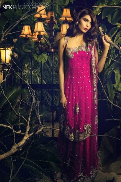 PERSHE By Kauser Humayun Party Wear Dresses for Women 2014-2015-StylesGap.com- (7)