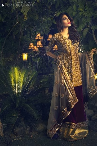 PERSHE By Kauser Humayun Party Wear Dresses for Women 2014-2015-StylesGap.com- (8)