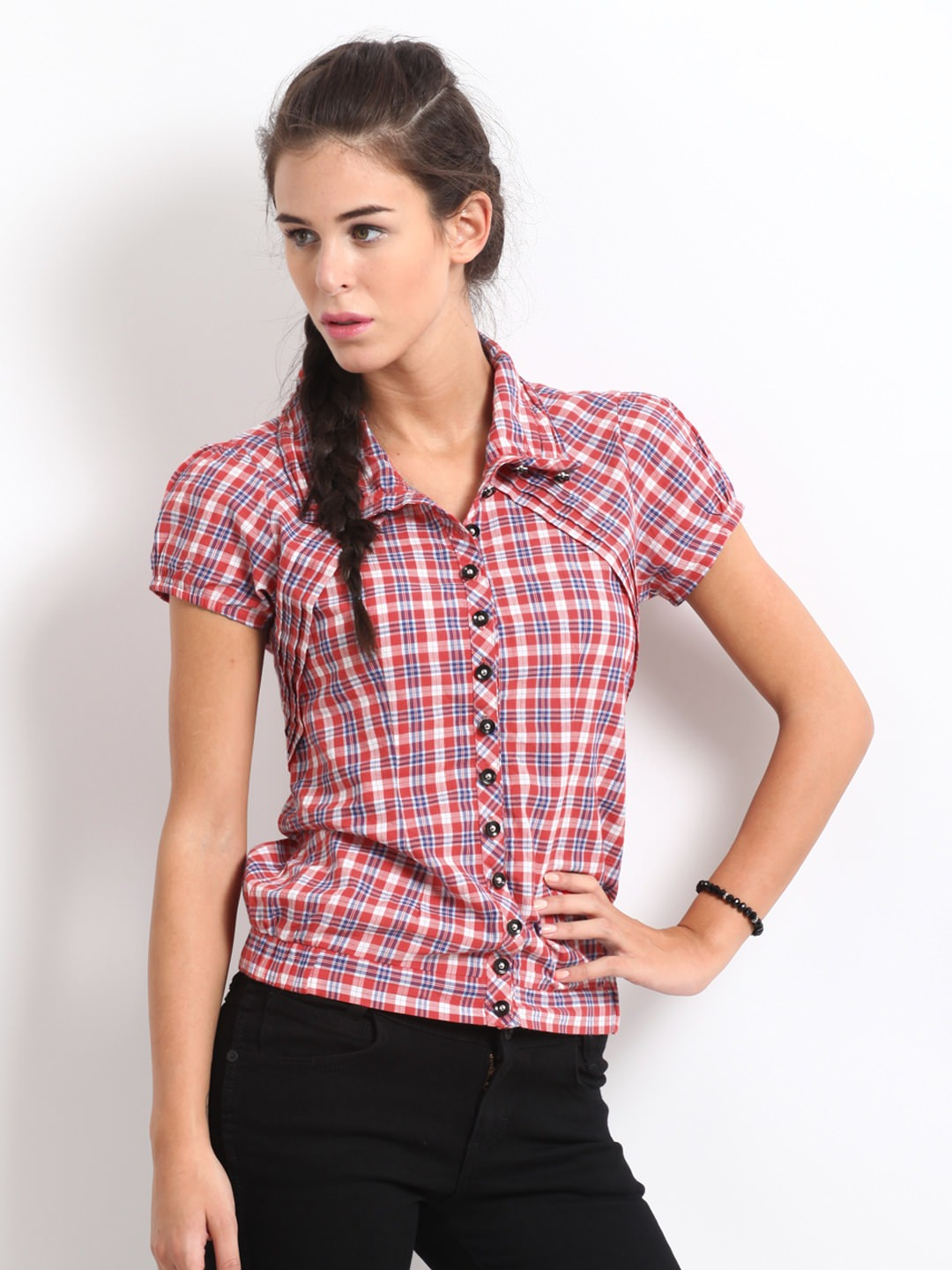 Roadster-Women-Red-&-Blue- Ladies Tops and Shirts By Best Brands