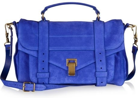 Proenza Schouler PS1 Medium Suede Satchel | Top designer handbags for women (1)