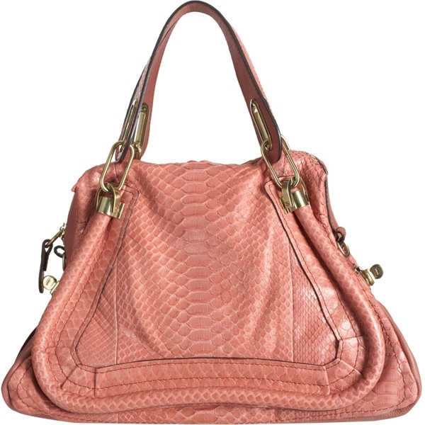 Chloe Medium Paraty Python Satchel | Top designer handbags for women (11)