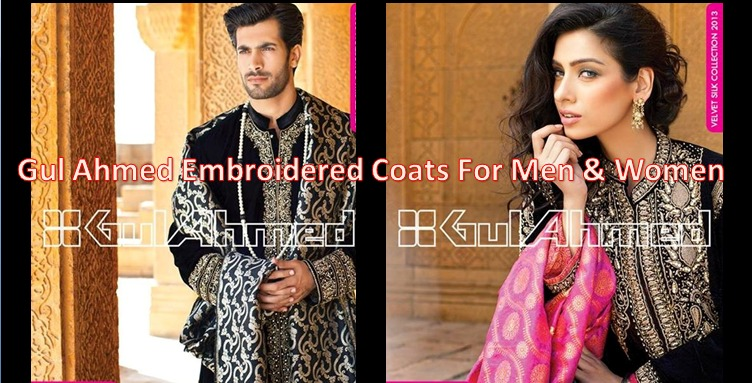 Gul Ahmed Embroidered Coats For Men & Women
