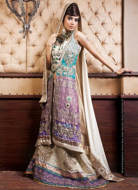 Latest Bridal dresses for Barat, Mehndi and Walima (2)
