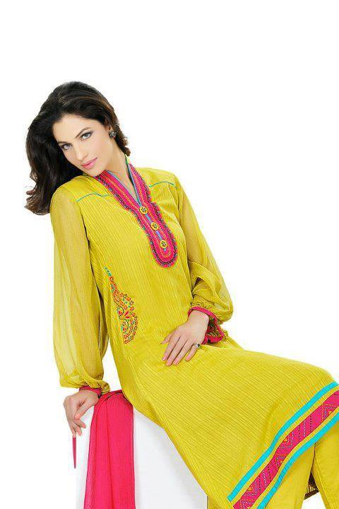 Latest Designs of Summer Long Shirts for Women 2014 (1)
