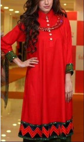 Latest Designs of Summer Long Shirts for Women 2014 (12)