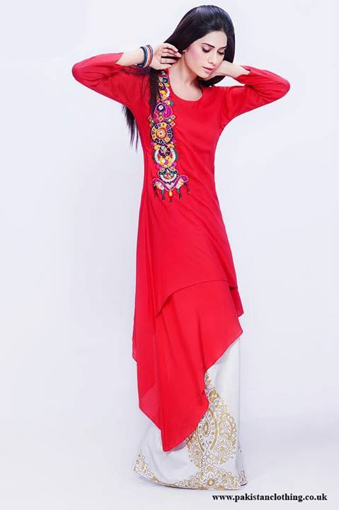 Latest Designs of Summer Long Shirts for Women 2014 (8)