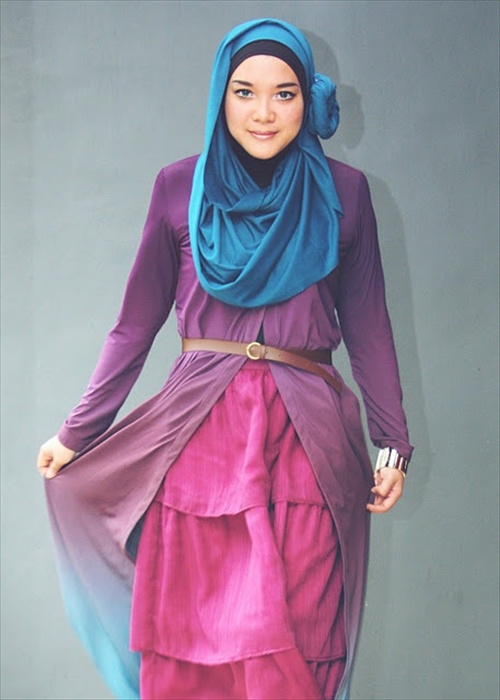 Latest Hijab styles for Girls 2014-2015 (10)