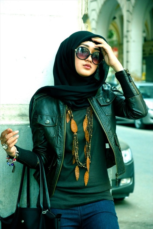 Latest Hijab styles for Girls 2014-2015 (6)