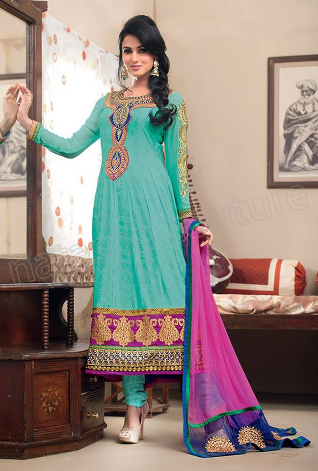 Latest Indian and Asian Anarkali Frocks and Dresses 2014-2015  (12)
