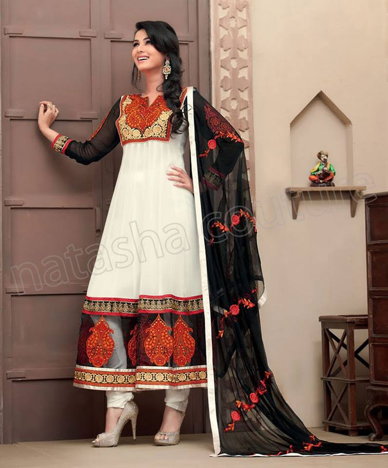 Latest Indian and Asian Anarkali Frocks and Dresses 2014-2015  (4)