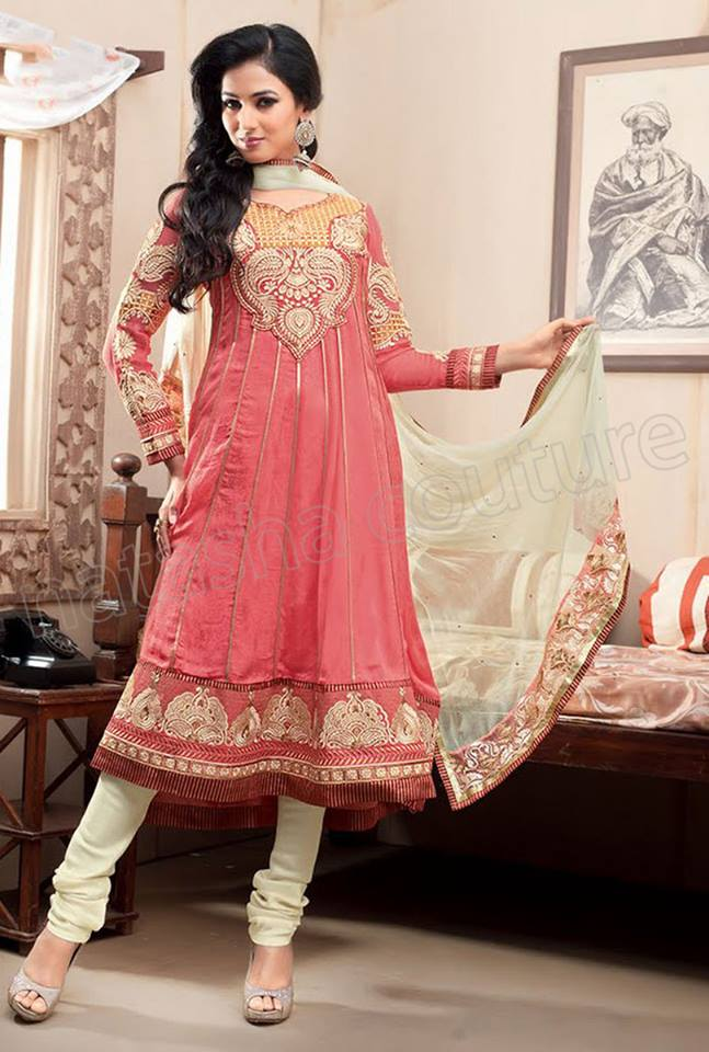 Latest Indian and Asian Anarkali Frocks and Dresses 2014-2015  (6)