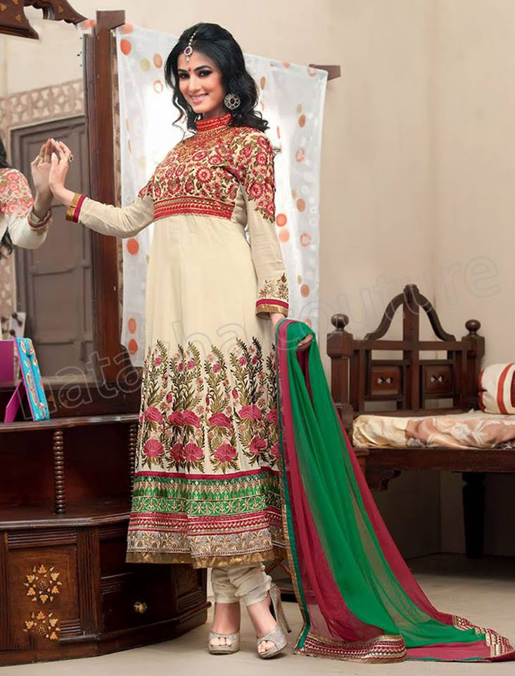 Latest Indian and Asian Anarkali Frocks and Dresses 2014-2015  (9)