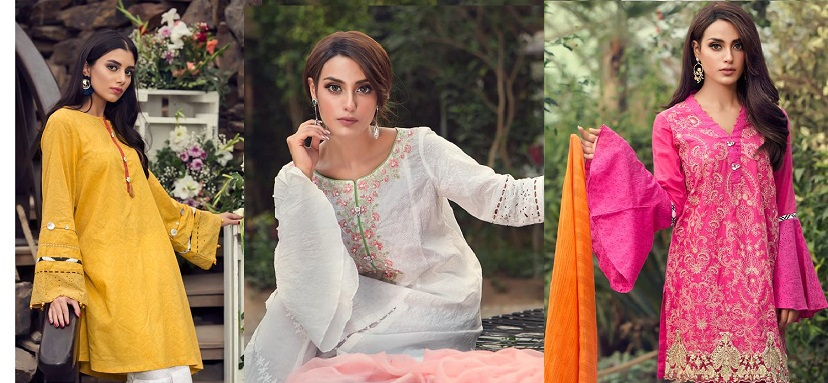 Latest Maria B Pret Stitched Summer Dresses Designs 2018 (8)