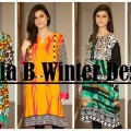 Latest Maria B Winter Designs-Cotton Shirts-Linen Kurtis-Winter Dresses 2014