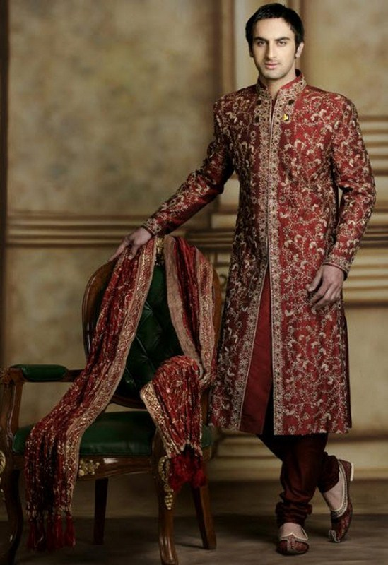 Latest Sherwani Designs for Weddings and Parties 2014-2015 (18)
