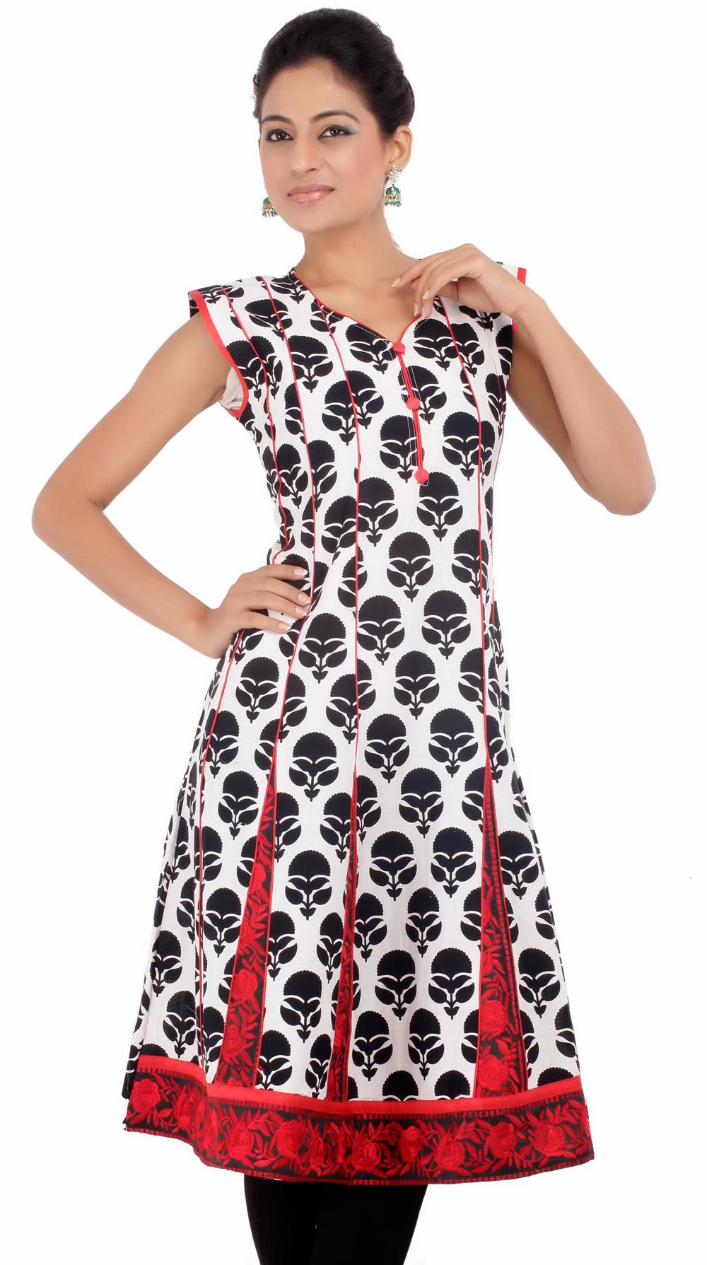 Shirt design with laces - Latest Women Cotton Shirts And Kurti Designs For Spring Summer 3